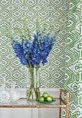 Thibaut Pass-a-Grille Wallpaper in Coral